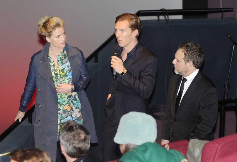 Alice Eve, Benedict Cumberbatch and Alex Kurtzman