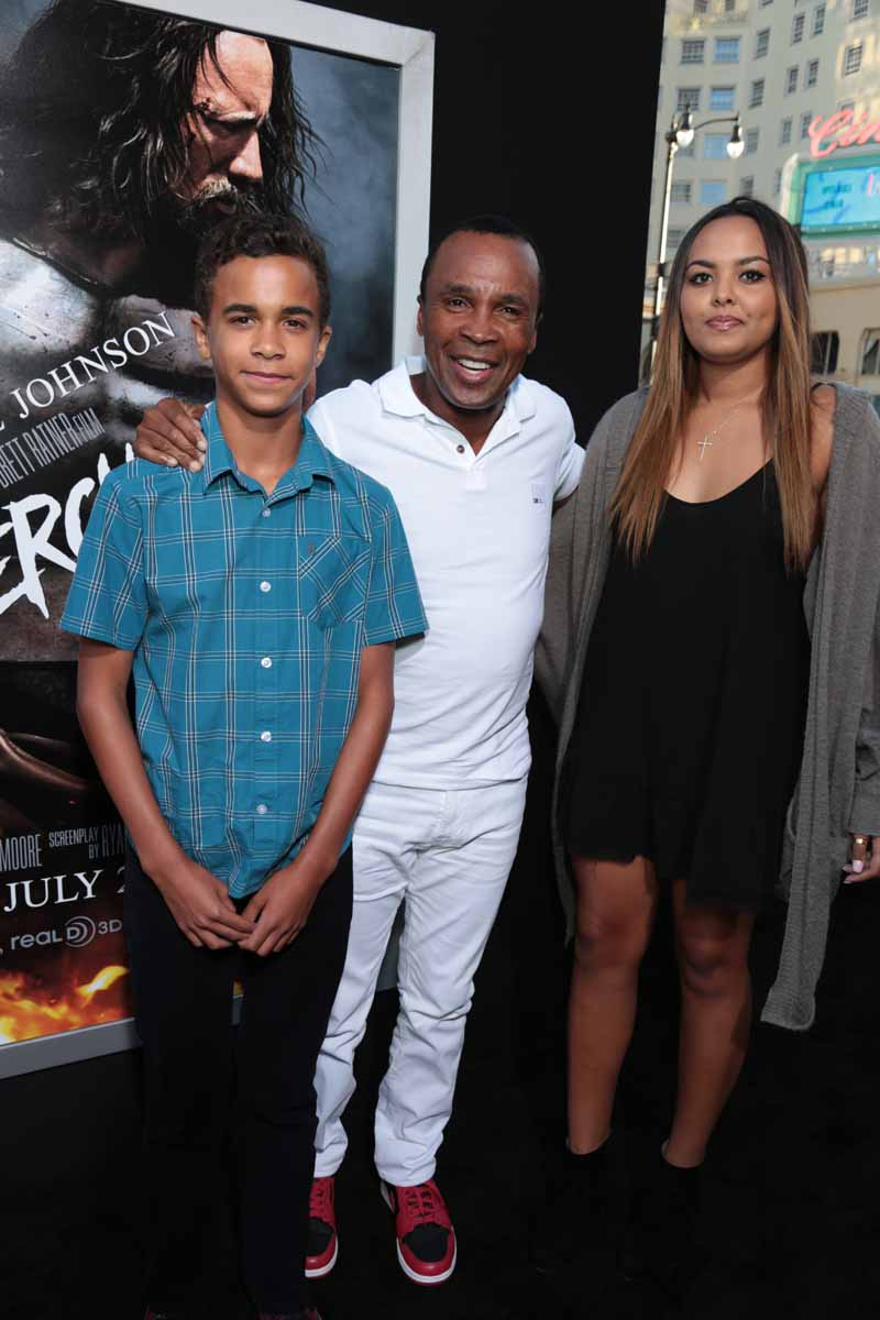 Photo of Sugar Ray Leonard & his  Daughter  Camille Leonard